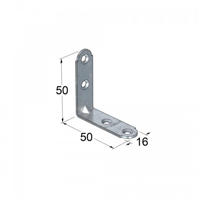 METAL CORNER 50x50x16 / GALVANIZED